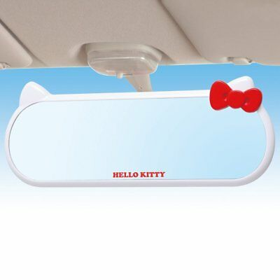 KT392 / Official SEIWA Car Room Mirror / Hello Kitty Face Mirror / From Japan