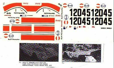 Fred Cady Decal #71 To Do The 70-71 Porsche 917K Gulf Oil Car