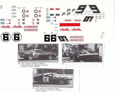 Fred Cady Deca #102 To Do The 70/71 Javelin Sunoco Trans-Am Car