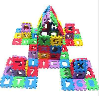 36pcs Foam Puzzle Numbers+Letters Play Mat Foam Puzzle Floor Kid Crawling Carpet