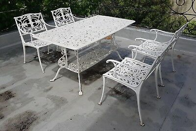 Retro Vintage 1960s Garden Setting Table Chairs