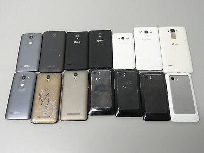 Lot of 14 AT&T Claro & More Smartphones Mixed Models & Many Brands AS-IS GSM
