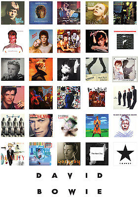 David Bowie Albums Poster A2 Gloss