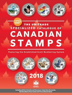 2018 Unitrade Specialized Catalogue of Canadian Stamps -Retail $49.95