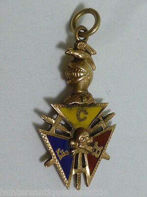 Antique  Gold Fill Knights of Pythias Watch Fob