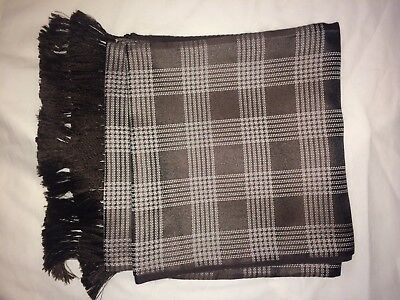 JAMES BOND QUANTUM OF SOLACE TOM FORD Mens Scarf 100% Silk Brown Authentic