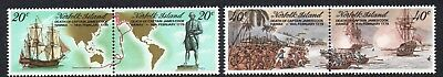 NORFOLK Is, 1979 COOKS DEATH ANNIVERSARY 4 MNH