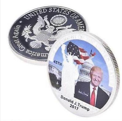40th American President Donald Trump Silver Coin US White House Coin Collection/