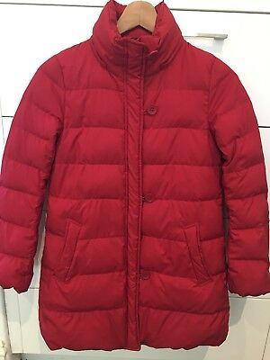 girls down coat - scarlet/red - size 8 - great for travelling