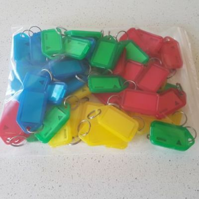 Kevron 37742 Key Rings Id5 Plastic Tags with Metal Ring Assorted Colours Bag 50