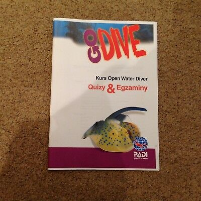 PADI Polish Open water Diver Course Student Exam Book