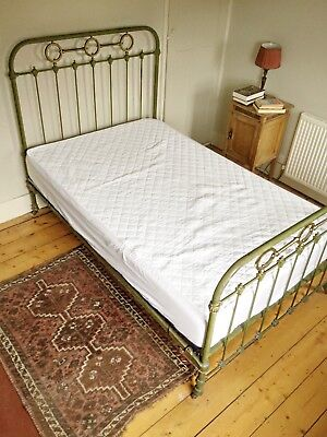 French Antique Original Iron Bed Small Double