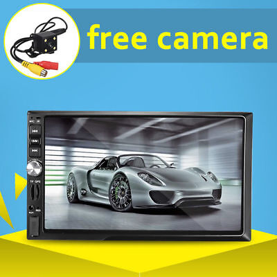"7"" HD Touch Screen 2DIN Car Stereo Radio MP5 MP3 Player Bluetooth + Rear Camera"