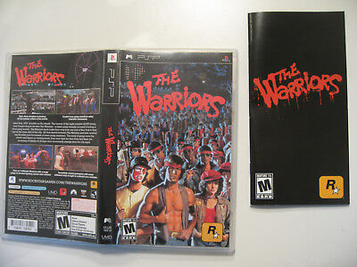 The Warriors - Sony PSP GAME - BOX AND MANUAL ONLY - rockstar (Grand Theft Auto)