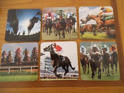 Horse Racing Coaster Set of 6,  Atlas Edition, The sport of Kings