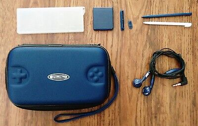 Nintendo DSi Competition Pro Blue Case and Accessories