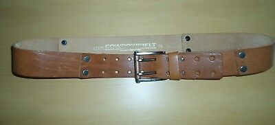 Mens Cowboys Belt Real Leather Tan Colour