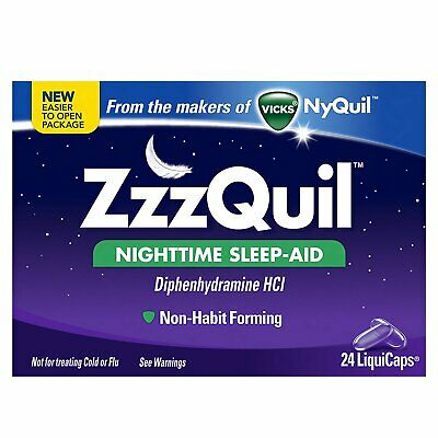 Vicks Nyquil Zzzquil Nighttime Sleep-Aid Liquicaps - 24 Count (Pack Of 3)