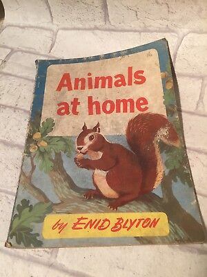 Rare 1950 Animals At Home By Enid Blyton Book