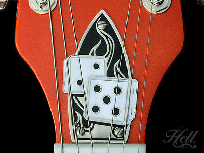 BLAZING DICE 100% Brass Truss Rod Cover. Fits most Gretsch® style guitars.