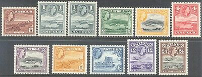 ANTIGUA 1953/61 QEII Pictorial Set to 24c (11) MLH