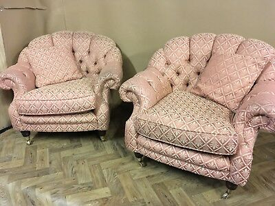 Victorian Style 3 Piece Suite Sofa And Two Chairs