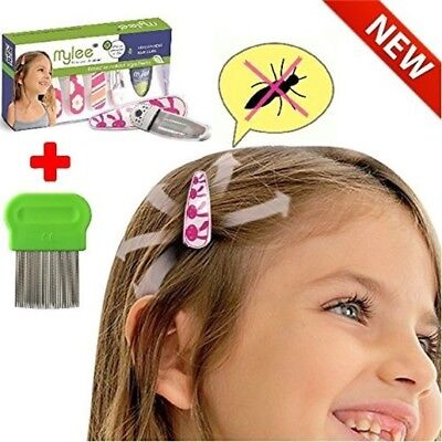 Lice Prevention head Clips, Nit Treatment + Comb, Patented Organic Product, Safe