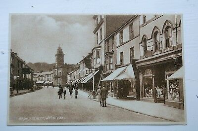 Vintage  Postcard Of Broad Street, Welshpool VGC