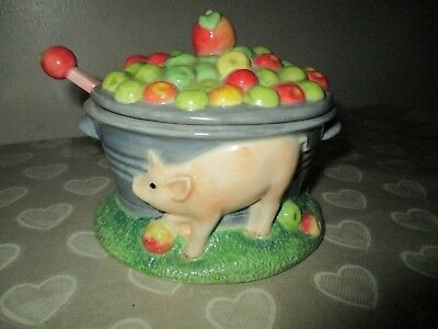 James Herriot Border Fine Arts Apple Sauce Lidded Pot With Spoon