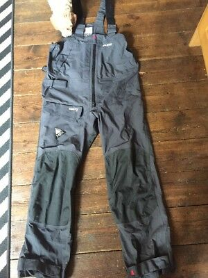 MUSTO MPX Trousers Grey Size Large Salopettes Sailing Waterproof Offshore