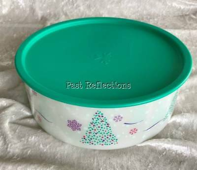 Tupperware Christmas Trees Cookie Canister Great Gift Filled With Biscuits