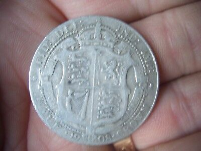 SILVER 1908 EDWARD VII half crown IN F GRADE COIN A GOOD COLLECTORS ITEM