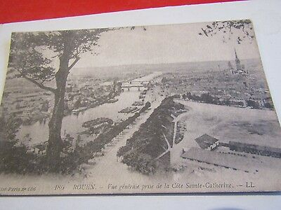 Old Postcard Of River View Rouen France