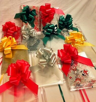ChrIstmas Cello Wrap With 50cm Bow Various Designs & Colours to Choose From.