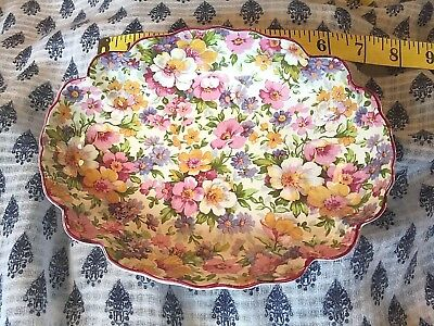 James Kent, Old Foley, Chintz oval fluted dish