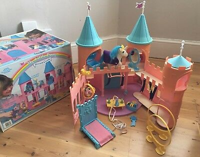 Vintage My Little Pony G1 Dream Castle COMPLETE Box Instructions All Accessories