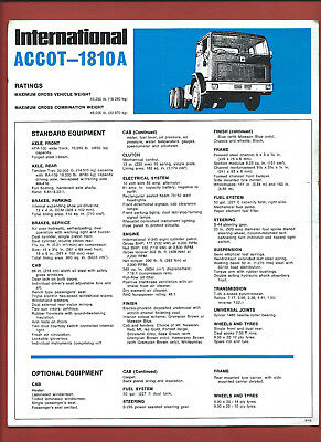 IH INTERNATIONAL ACCOT-1810A sales technical leaflet