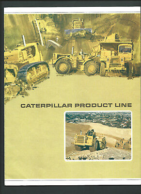CATERPILLAR PRODUCT LINE 8 page folding sales brochure