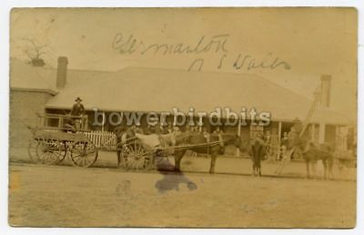 Real Photo postcard showing local hotel at GERMANTON (now Holbrook) NSW