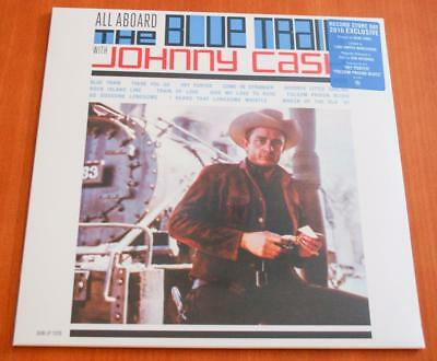 Johnny Cash - All Aboard The Blue Train - Sealed  RSD 2016 Blue Vinyl LP