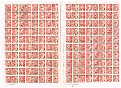 Australia ,1951 3d 50TH  ANNIVERSARY OF FEDERATIONFULL SHEET OF 160 STAMPS  MUH