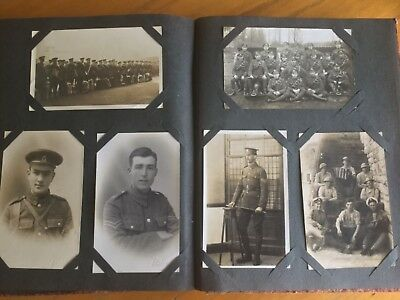 Vintage Postcard Album With 200 + Early Cards Good Mix Of Subjects  & Condition.
