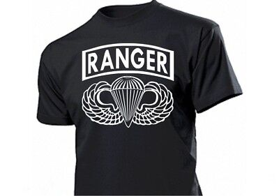 T-Shirt Ranger Paratrooper WH WK2 WWII US Army Airborne Wings Seals Gr S-XXL