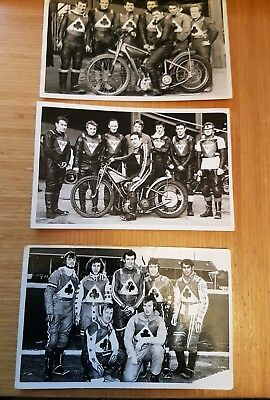 **BELLE VUE ACES SPEEDWAY 1960's x3 BLACK AND WHITE PHOTOGRAPH'S~FREE POSTAGE**