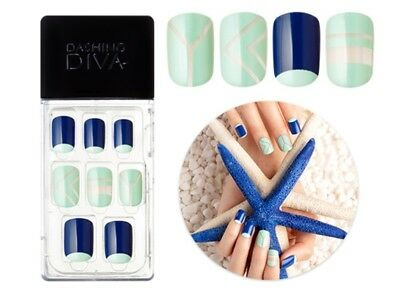 dashing diva Magic press artificial nail tips, easy to attach and no glue needed