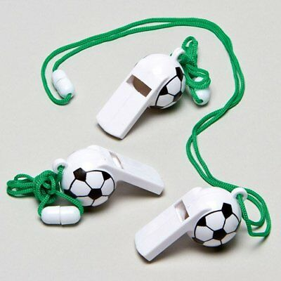 Sale!!! Football Whistles Perfect Party Bag Filler for Children Pack of 6 b/w