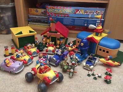 Large Noddy Toyland Playset Lots Of Vehicles, Figures, Airport, House, Garage