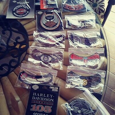 LOT OF  VINTAGE   Harley Davidson HOG  PATCHES AND a few others