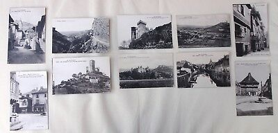 St-Cere France Selection of  10 French Postcards