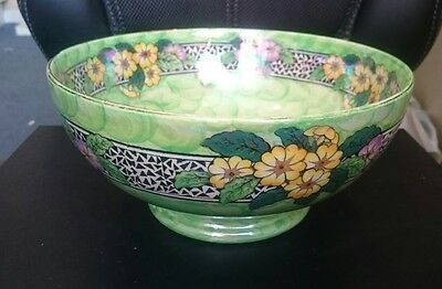 Maling Primrose Border Large Bowl, Decorative, Vintage, Pretty Piece (DCB)